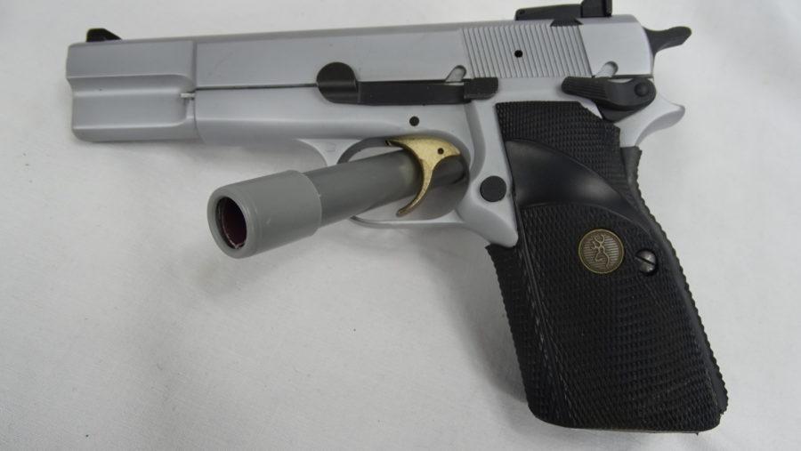 Browning GP Silver Chrome Met Draagtas In Uitmuntende Staat. Prijs 795,00€ T649