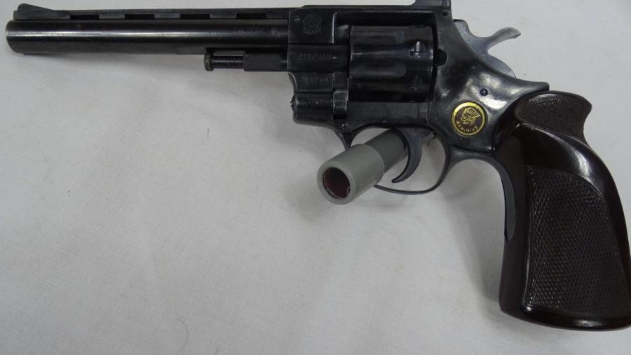 Revolver Arminius Model HW 7S. Trommel Met 8 Schoten. In Goede Staat. T664