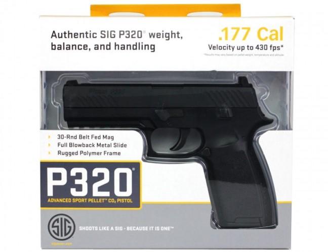 Sig Sauer P320 Air Pistol Co2 .177 Cal Bbs