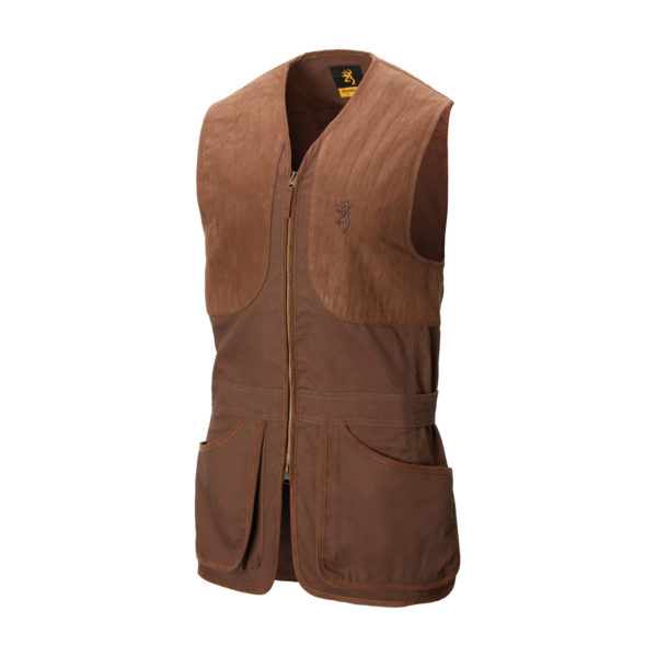 SHOOTING VEST ELITE DARK BROWN 1