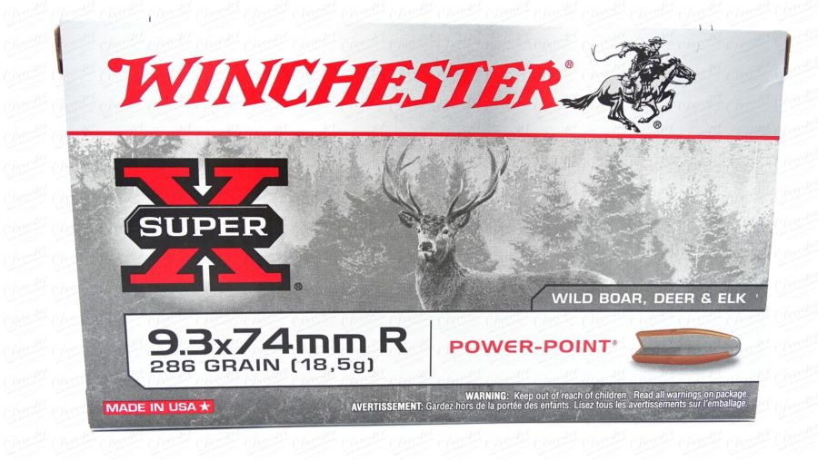 Winchester 9 3x74mm R 286gr Powerpoint