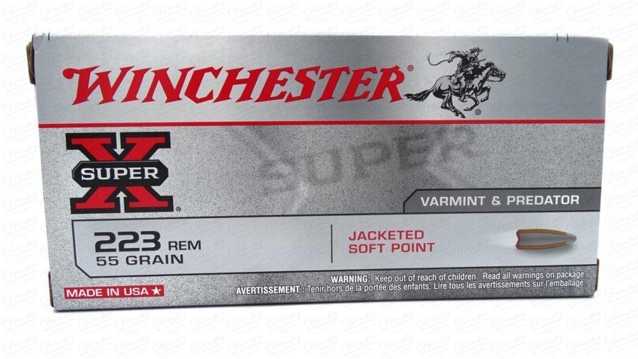 Winchester Super X 23 REM 55gr JSP