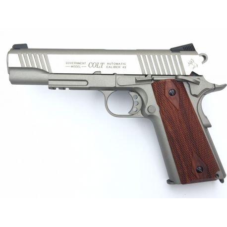 Kwc Colt 1911 Rail Gun Stainless Co2 Swiss Arms 180530