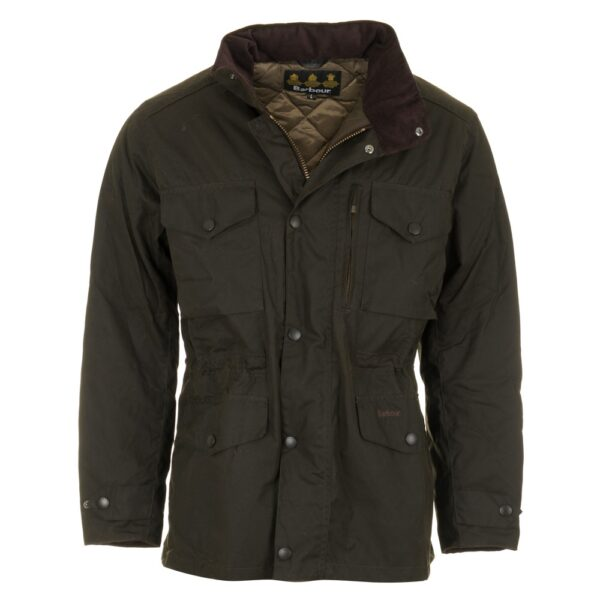 Sapper Waxed Jacket Olive Green P848 1461 Image
