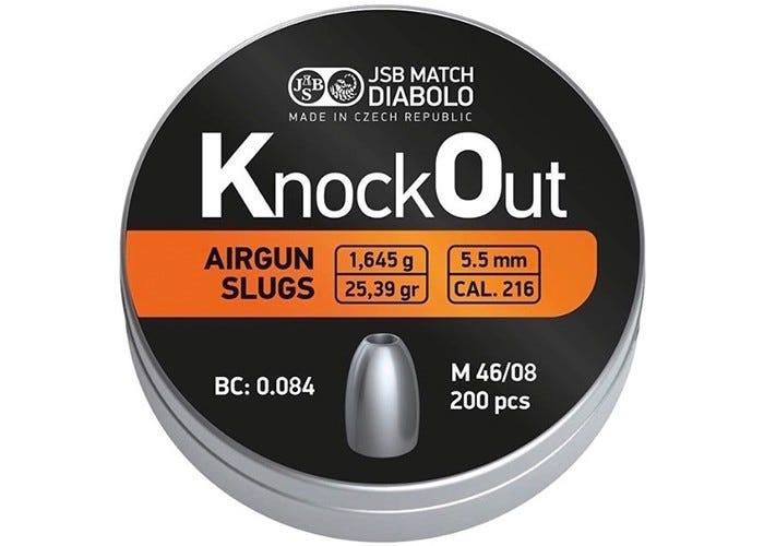 Slugs Jsb Knock Out 5.5 Mm 25.39 Grain