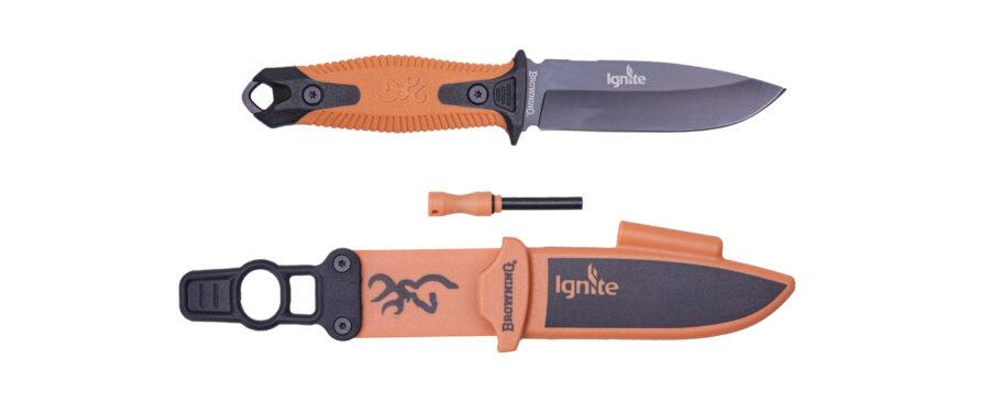 KNIFE IGNITE FIXED ORANGE 1