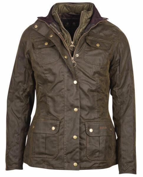 Barbour Womens Ashley Wax Jacket Olive LWX0765OL51